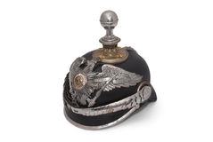 German helm of the 19th century. Old German helm of the 19th century, so called Pickelhaube (peaked helm Royalty Free Stock Image