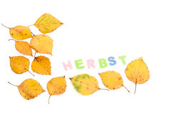 German herbst frame Royalty Free Stock Photography