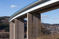 German highway bridge Stock Images