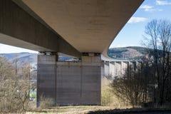 German highway bridge Stock Photography