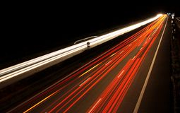 German highway by dark night stock images