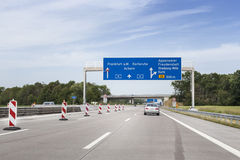 German highway Royalty Free Stock Photography