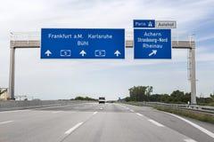 German highway Stock Photo