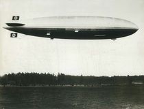 German Hindenburg Zeppelin Before Exploding. German Hindenburg Zeppelin Exploded while trying to dock at station in Lakehurst, New Jersey on May 6, 1937. It was Royalty Free Stock Photography