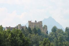 German hohenschwangau zamek obraz stock