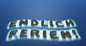 German holiday island Stock Photos