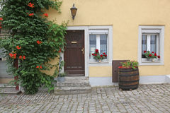 German home with door Royalty Free Stock Photo