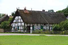 German house with hay Royalty Free Stock Photography
