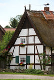 German house under hay roof Stock Photo