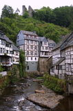 German houses. In Monschau germany Royalty Free Stock Images