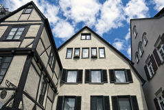 German houses in Ulm Royalty Free Stock Images