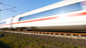 German ICE high speed train stock footage