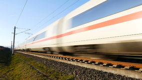German ICE high speed train stock video footage
