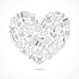 German icons in the form of a large heart Stock Images