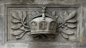 German Imperial Crown. German imperial crown as a relief on a public building Royalty Free Stock Photography