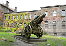 German 8 inch Howitzer captured by the by the divisions A.I.F on the Hindenburg Outpost Line. MELBOURNE, AUSTRALIA - JANUARY 27, 2016: German 8 inch Howitzer royalty free stock images