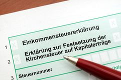 German income tax Royalty Free Stock Photography