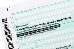 German income tax Stock Images
