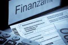 German income tax return Royalty Free Stock Images