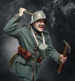 German infantryman during the first world war. Royalty Free Stock Photo