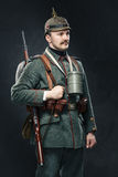 German infantryman during the first world war. Royalty Free Stock Images