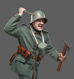German infantryman during the first world war. Royalty Free Stock Photography