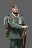 German infantryman during the first world war. Stock Images