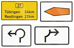 German information sign about destinations on federal road.  royalty free illustration