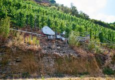 German Ingenuity meets Grape Harvest Efficiency royalty free stock image