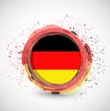 German ink circle flag illustration design Royalty Free Stock Photo