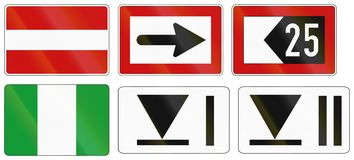 German inland water navigation sign - No entry for any vessels.  Stock Image