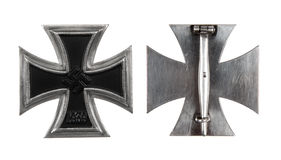 The German iron cross of 1 class. Isolated, on a white background Stock Photography