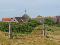 The german island of Baltrum. In the North sea royalty free stock photo