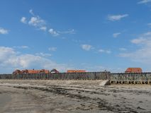 The german island of Baltrum. In the North sea royalty free stock image