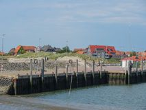 The german island of Baltrum. In the North sea stock photos