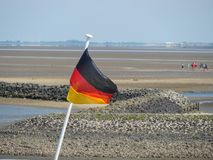 The german island of Baltrum. In the North sea stock image