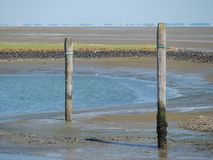 The german island of Baltrum. In the North sea stock images