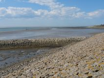 The german island of Baltrum. In the North sea royalty free stock photos