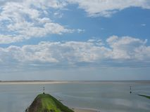 The german island of Baltrum. In the North sea stock photo