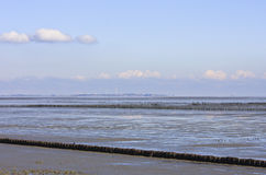 German island Borkum in the Waddenzee Royalty Free Stock Photography
