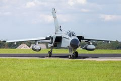 German jet fighter. Drives on military airbase Royalty Free Stock Photography