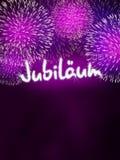German Jubiläum jubilee anniversary firework pink Royalty Free Stock Photos