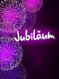 German Jubiläum jubilee anniversary firework pink Stock Images