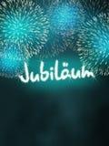German Jubiläum jubilee anniversary firework turquoise Stock Image