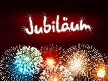 German Jubiläum jubilee anniversary firework red Stock Image