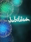German Jubiläum jubilee anniversary firework turquoise Stock Photography
