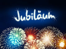 German Jubiläum jubilee anniversary firework blue Royalty Free Stock Photography