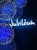 German Jubiläum jubilee anniversary firework blue Stock Photography