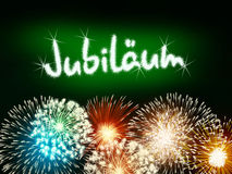 German Jubiläum jubilee anniversary firework green Stock Photos