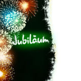 German Jubiläum jubilee anniversary firework green Royalty Free Stock Images